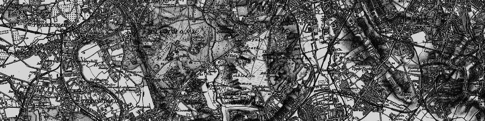 Old map of Wimbledon Common in 1896