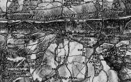 Old map of Lascombe in 1896