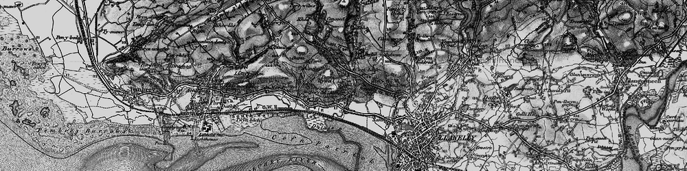 Old map of Afon Dulais in 1896