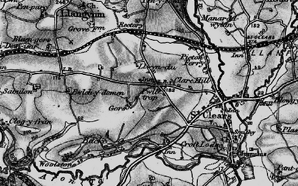 Old map of Zabulon in 1898
