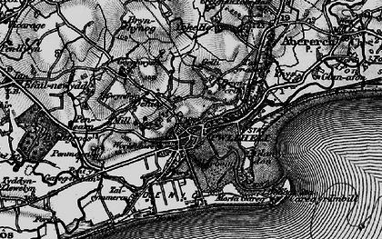 Old map of Pwllheli in 1899