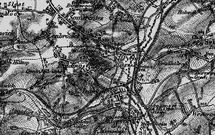Old map of Pye Bridge in 1895