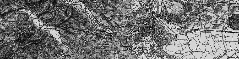 Old map of Pye Corner in 1897
