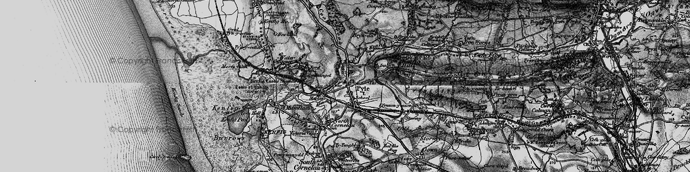 Old map of Pyle in 1897