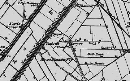 Old map of Pymore in 1898
