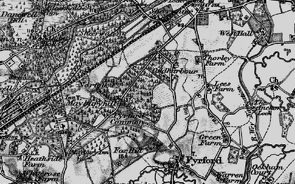Old map of Pyrford in 1896