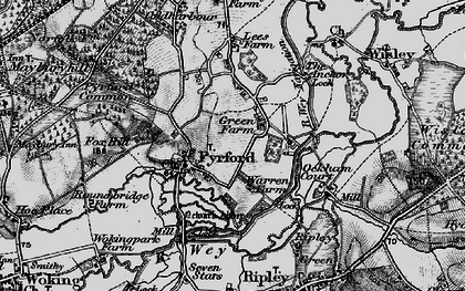 Old map of Newark Priory in 1896