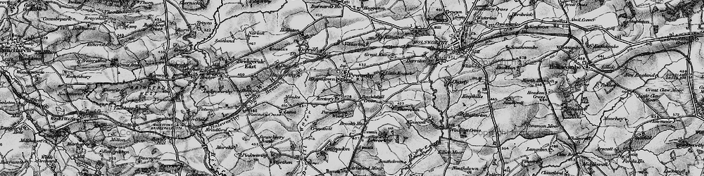 Old map of Leworthy in 1895