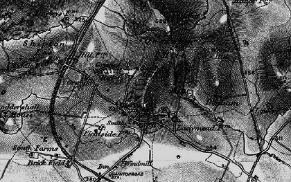 Old map of Quainton in 1896