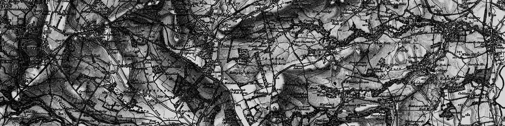Old map of Wheatley Hill in 1898