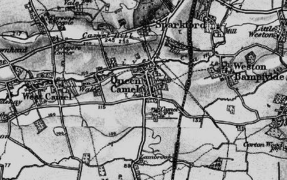 Old map of Queen Camel in 1898
