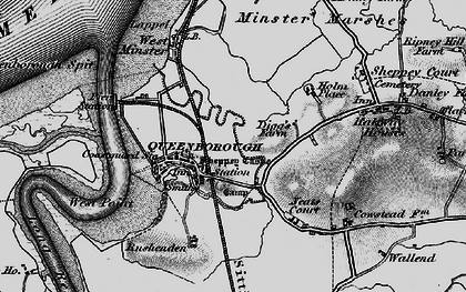 Old map of Queenborough in 1894