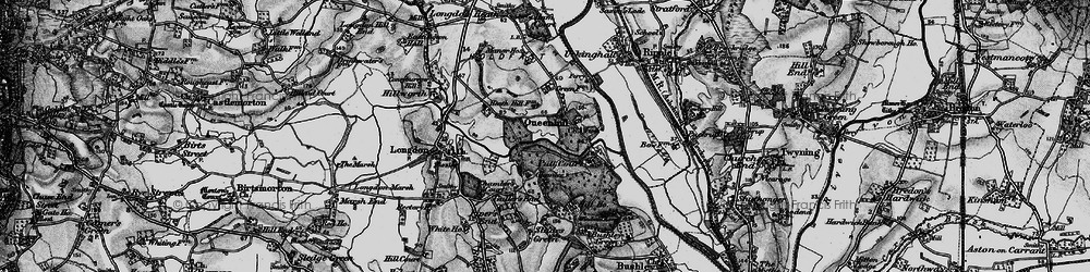 Old map of Queenhill in 1898