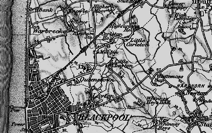 Old map of Queenstown in 1896
