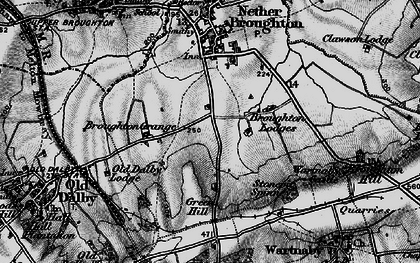 Old map of Queensway Old Dalby in 1899