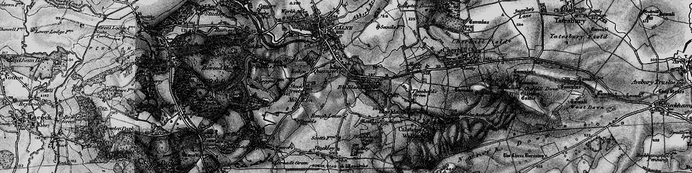 Old map of Quemerford in 1898