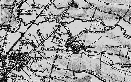 Old map of Queniborough in 1899