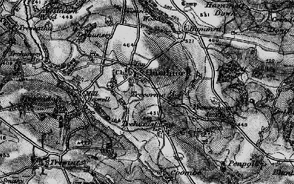 Old map of Quethiock in 1896
