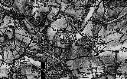 Old map of Ashampstead Common in 1895