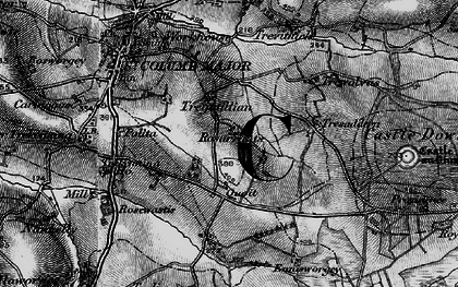 Old map of Quoit in 1895