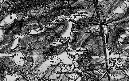 Old map of Rableyheath in 1896