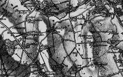Old map of Raby in 1896