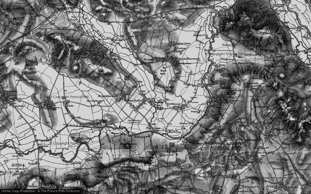 Old Map of Historic Map covering Linch Hill in 1895