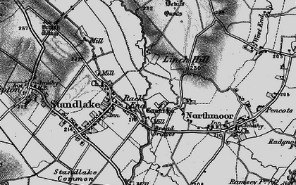 Old map of Linch Hill in 1895