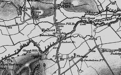 Old map of Radcot in 1896