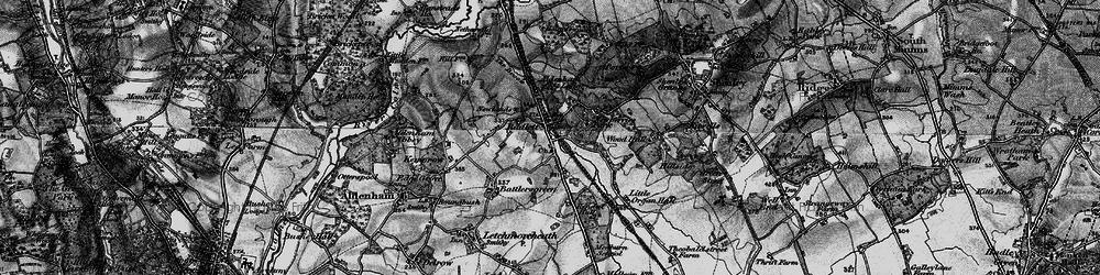 Old map of Radlett in 1896