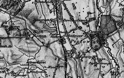 Old map of Peplow in 1899