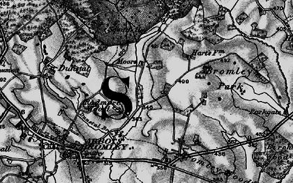 Old map of Bagot's Park in 1898