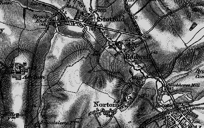 Old map of Radwell in 1896