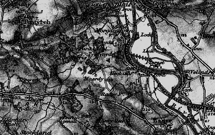 Old map of Radyr in 1898