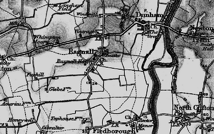 Old map of Whimpton Village in 1899