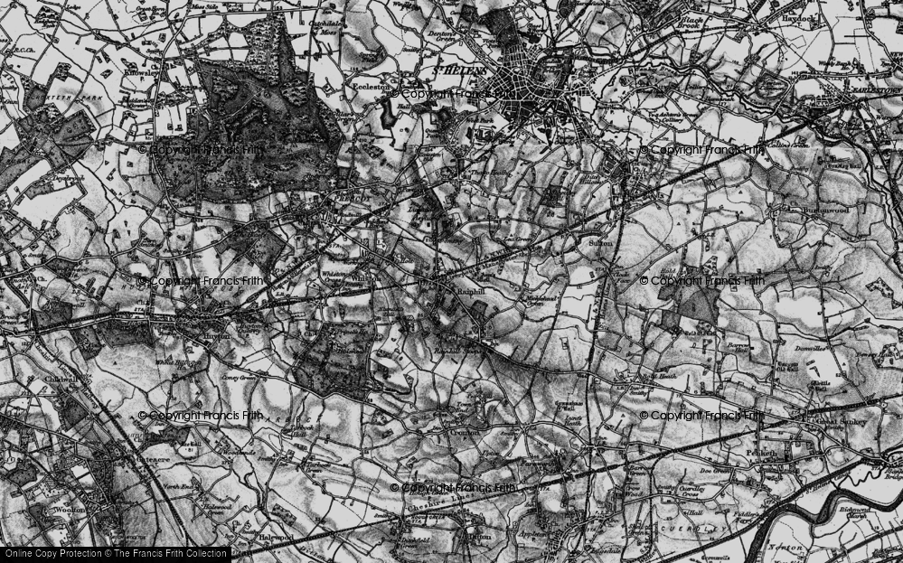 Old Map of Rainhill, 1896 in 1896