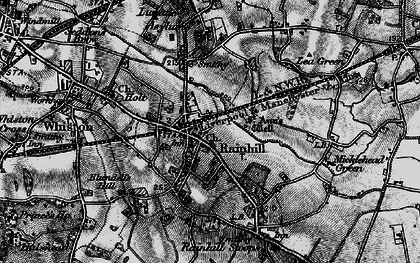 Old map of Rainhill in 1896