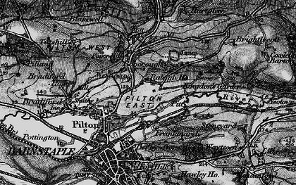 Old map of Westaway in 1898