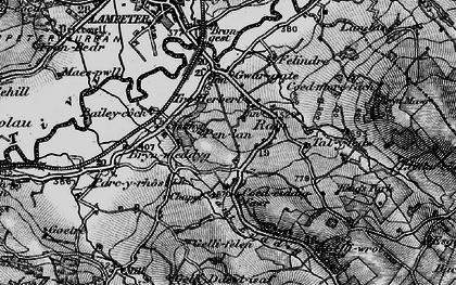 Old map of Cefn-bryn in 1898