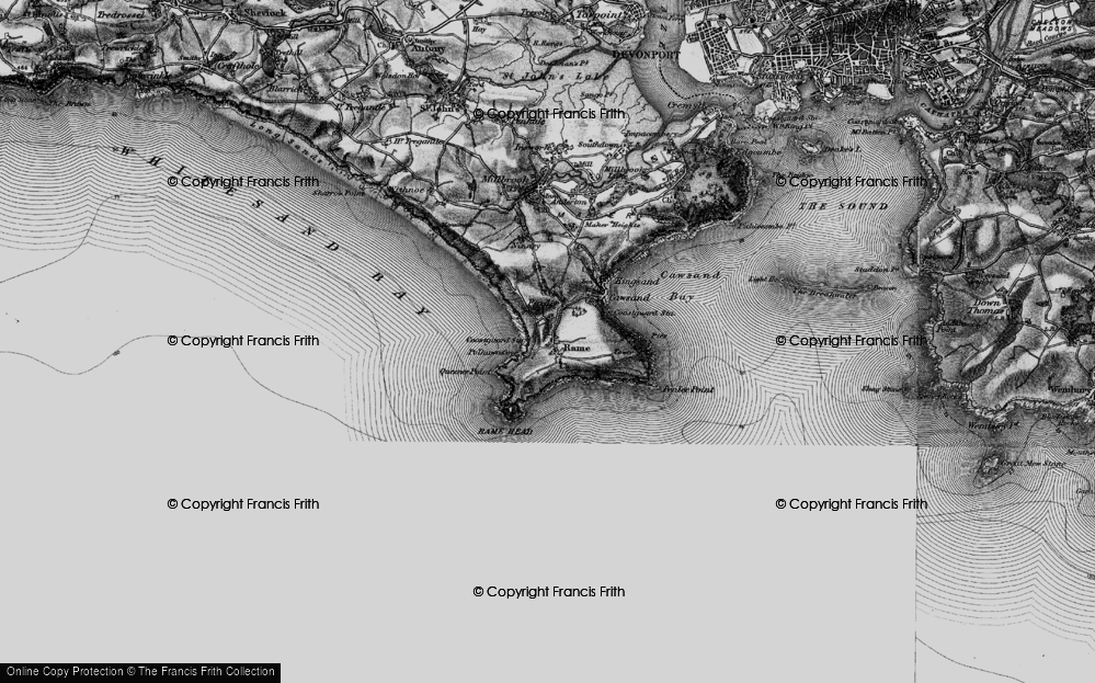 Old Map of Historic Map covering Lillery's Cove in 1896