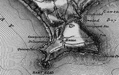 Old map of Rame in 1896