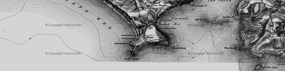 Old map of Lillery's Cove in 1896