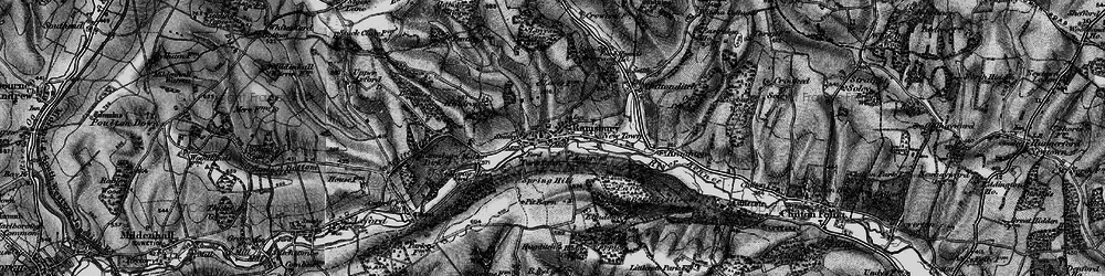 Old map of White's Hill in 1898