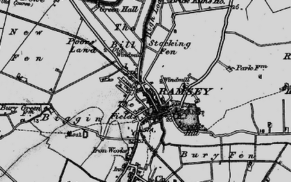 Old map of Ramsey in 1898