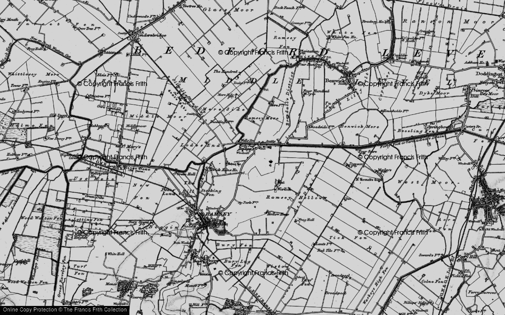 Old Map of Historic Map covering Ash Drain in 1898