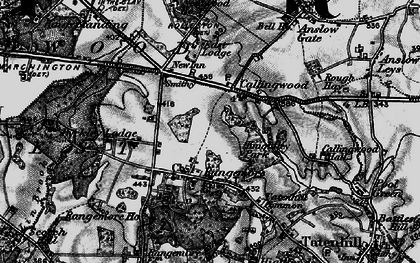 Old map of Lin Brook in 1898