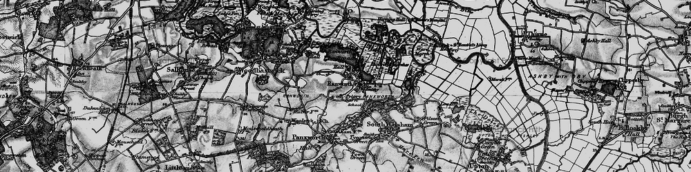 Old map of Ranworth in 1898