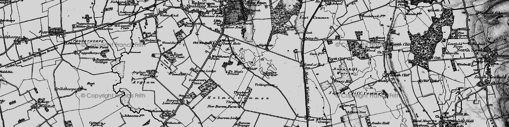 Old map of Wholsea Grange in 1898