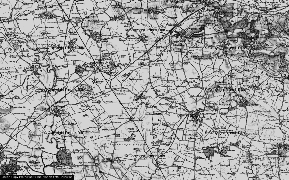 Old Map of Historic Map covering Baldrence in 1898