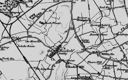 Old map of Leys Barn in 1898
